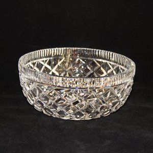 Vintage Waterford Diamond Pattern  Crystal Bowl